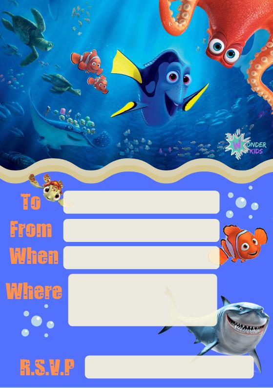 Nemo Party Invite
