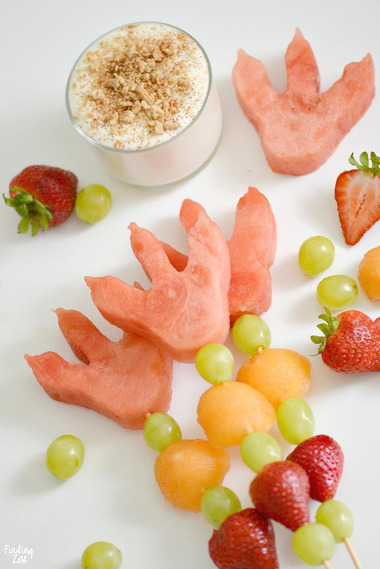 Dino Fruit Skewers