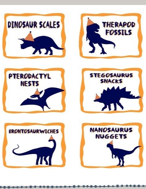 Dinosaur Food tents
