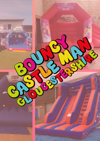 Bouncy Castle Man Gloucestershire - A huge range of bouncy castles and extra add on elements, just tap on the pic to see their website.
