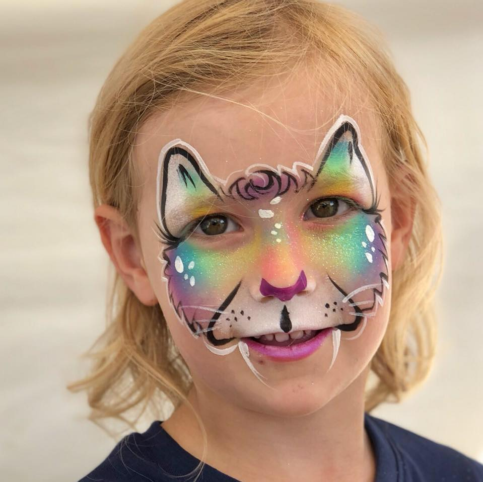 Tiddles Face Painting - Great fun faces and works of art, just click on the pic to find out more about their work.