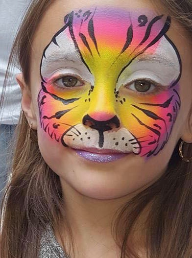 Buttercup Face Painting - Brilliant creative faces, based in the Forest of Dean but also travels around Gloucestershire. Just click on the pic to find their Facebook Page.