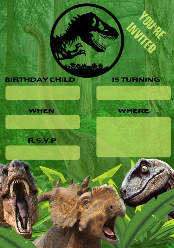 Dinosaur Party Invite