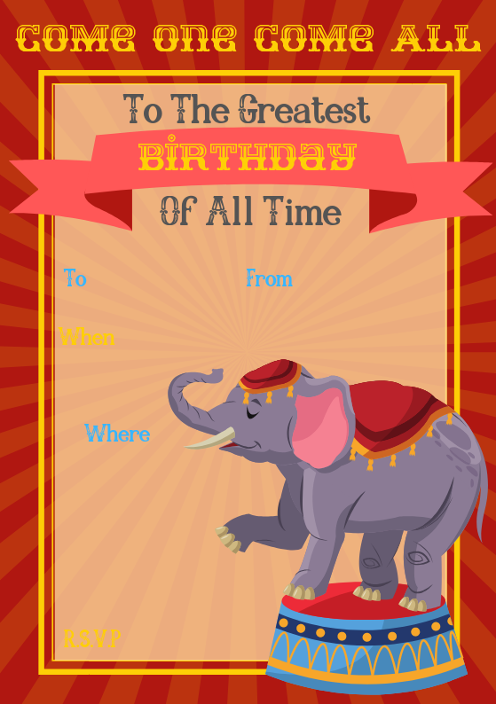 Circus Invite - Check out our library here