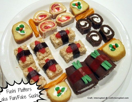 Ninjago Party Food sweet sushi
