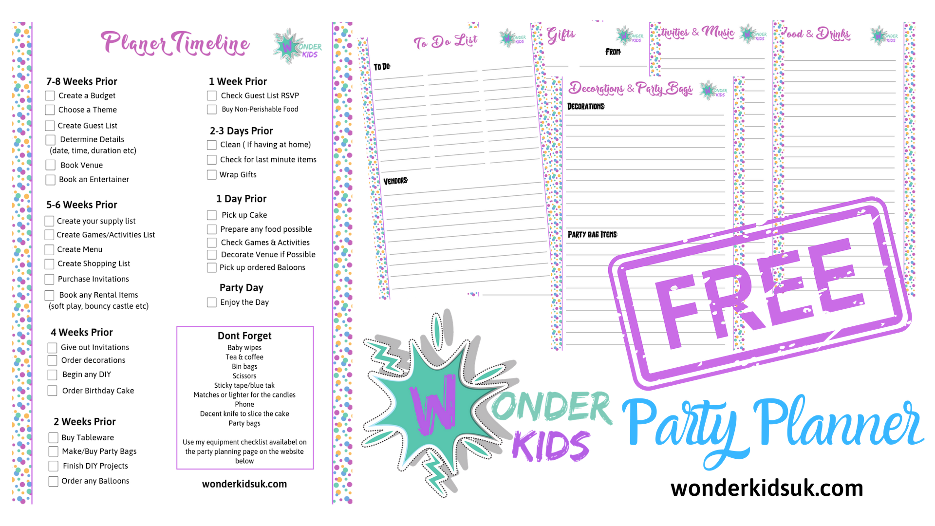 - Get a free party planner download