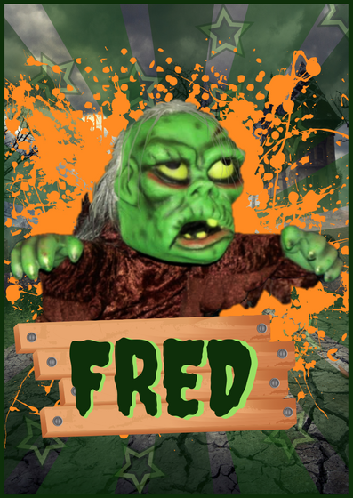 Meet Fred - The world friendliest Zombie, honestly it's safe, he can't get out of his box, can he?