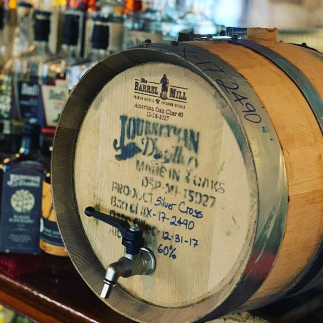 Our Fall cocktail and craft whiskey list is now available. It will be featuring this barrel aged Old fashion made with Journeyman Rye Whiskey!