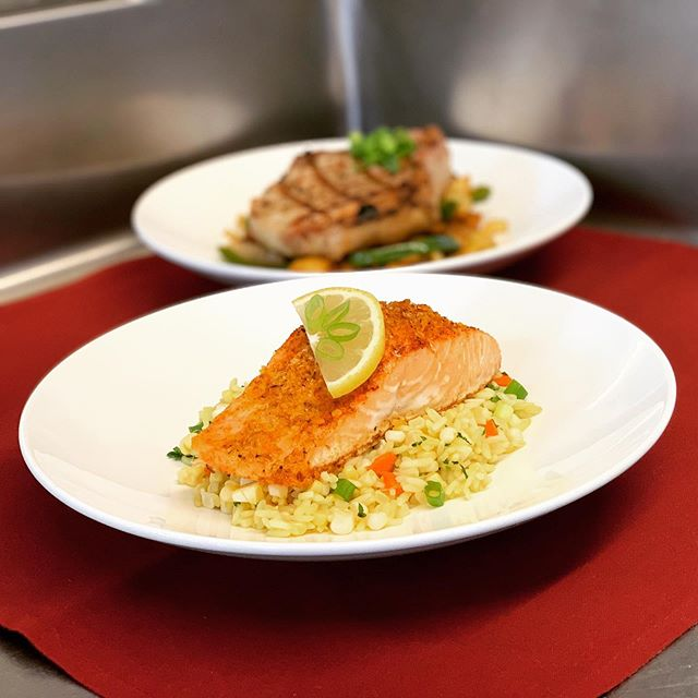 This weeks specials will include-Garlic Scottish Salmon served over rice tossed with jersey corn, and a Grilled Prime Pork Chop served over a mix of jersey fresh onions, potatoes and peppers.