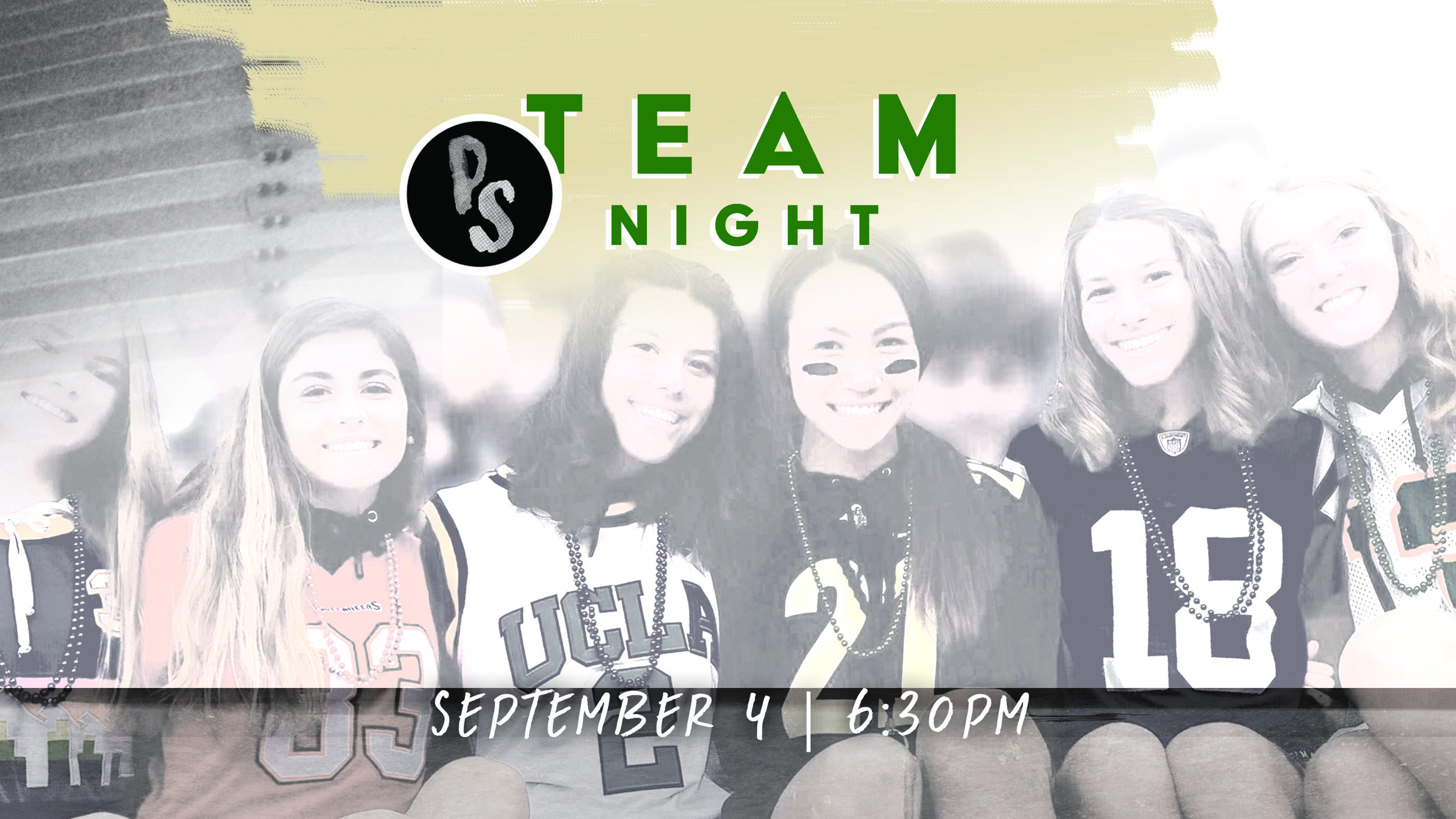 It's also Team Night so wear your jersey and bring your friends!