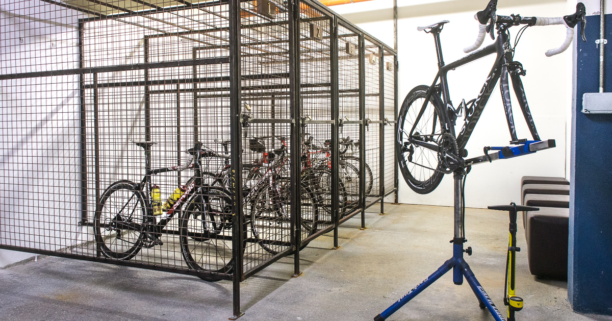 Secure Underground Bike Lockup Facilities at Manor West Hotel