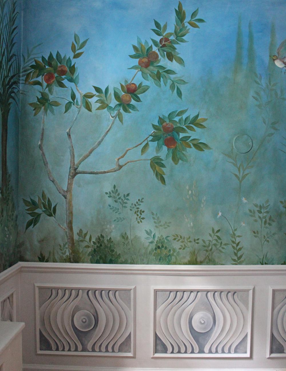 Tromp l'oeil Panel in situ
