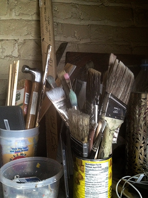 Brushes I try to keep clean....