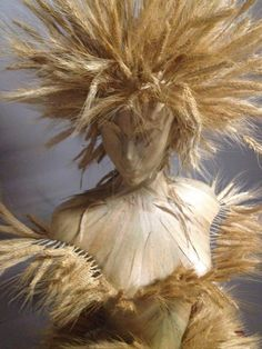 """Ceres"" Wheat Bust Sculpture for Dinner by Design 2015 -  concept and design  Collette Van den Thillart for NH Design"