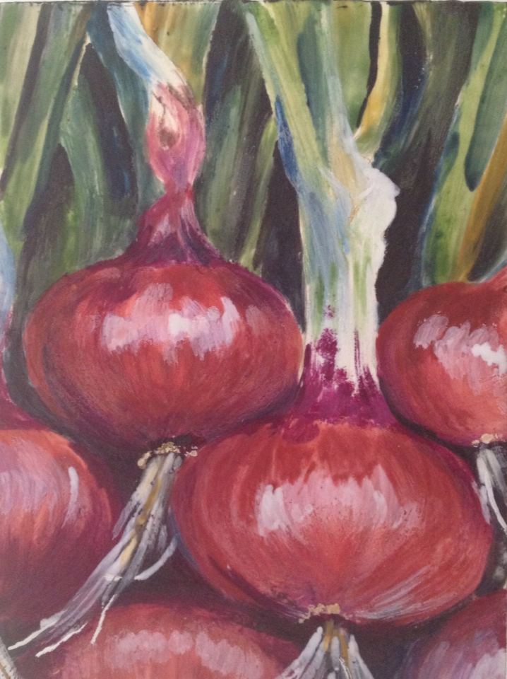"""Red Onion #2 6""""x8"""""""