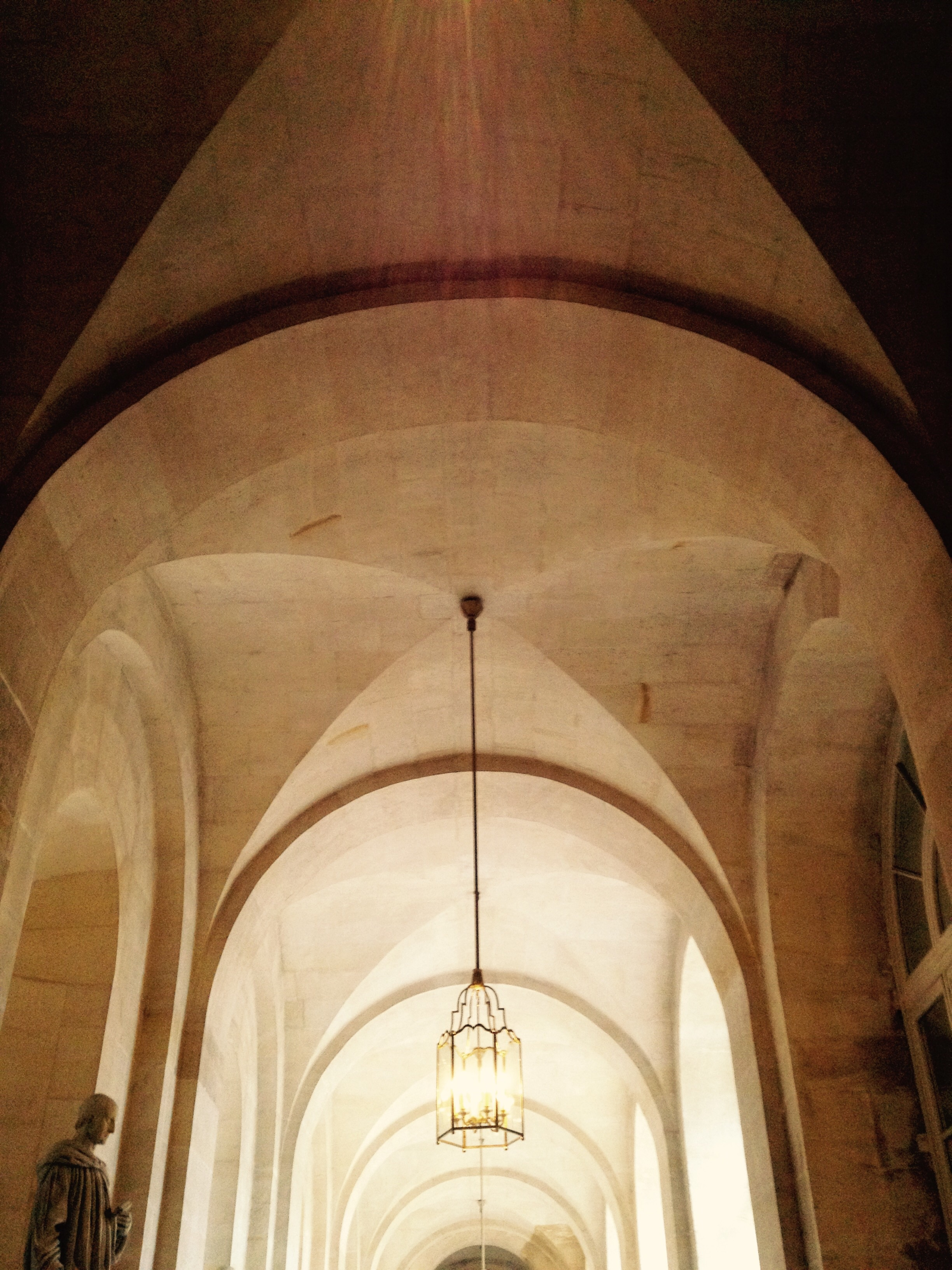 Vaulted ceiling of hallway in the palace