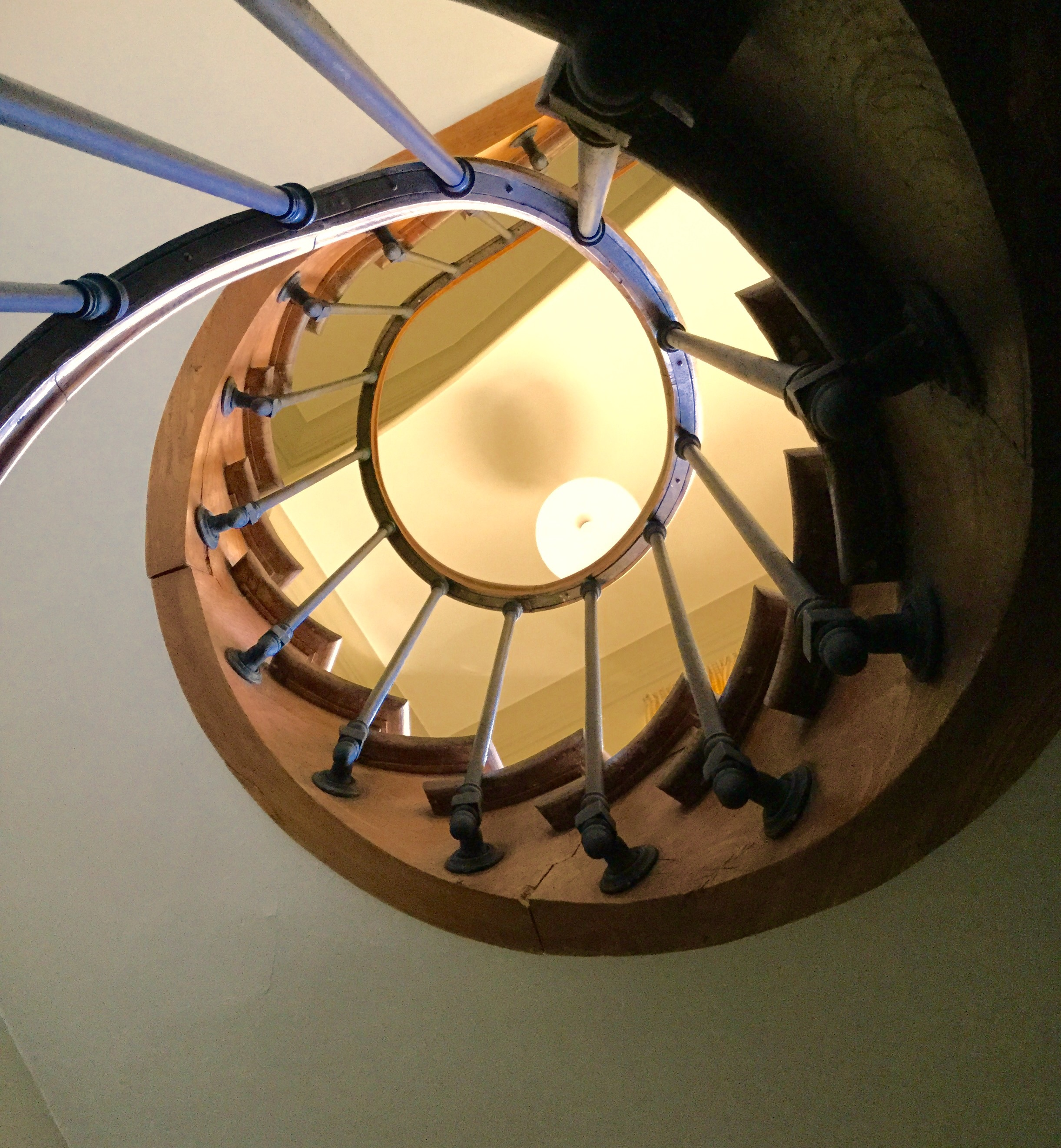 "Spiral stairway to my ""office"""