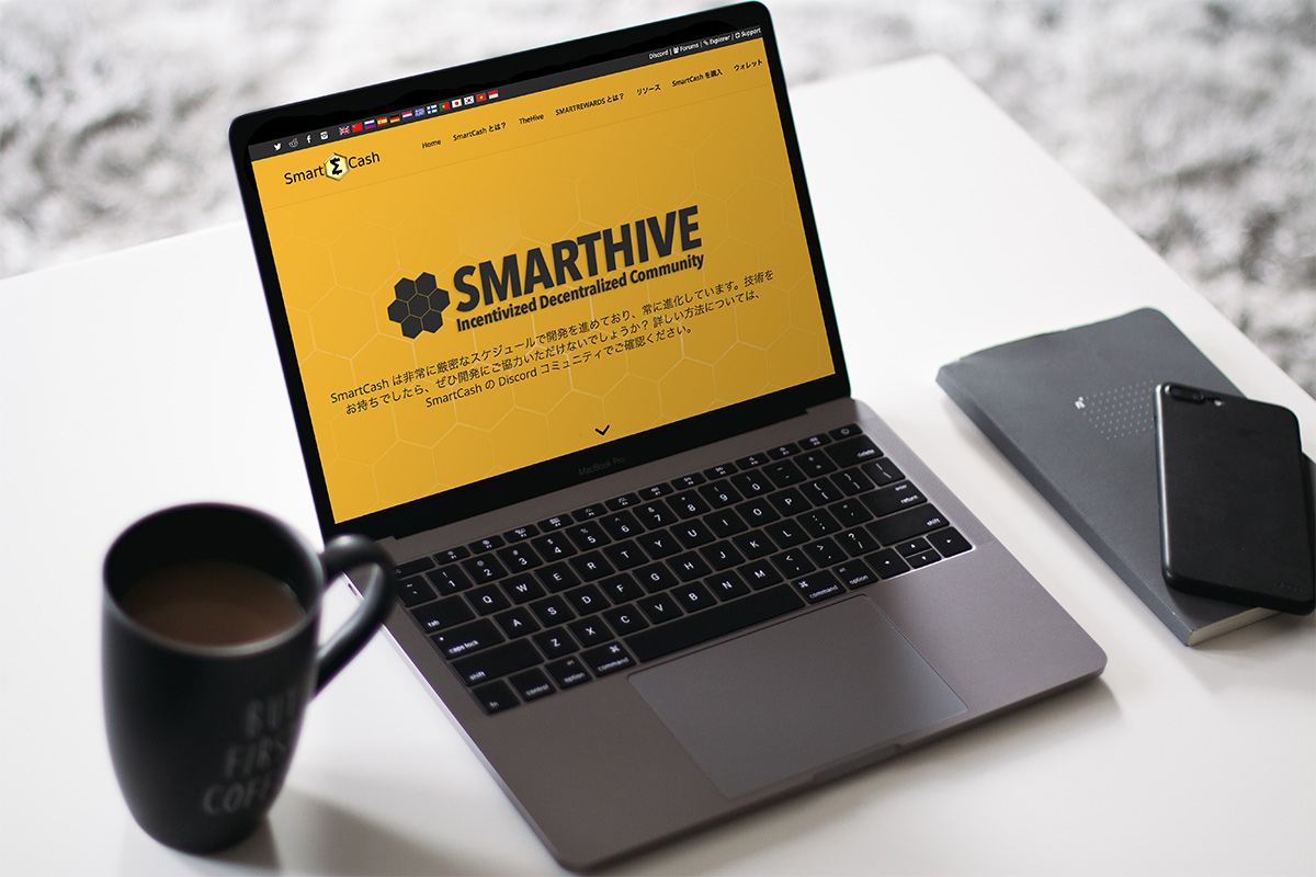 Kotoba Translation translated SmartCash's website into Japanese, Korean, Indonesian, and Thai