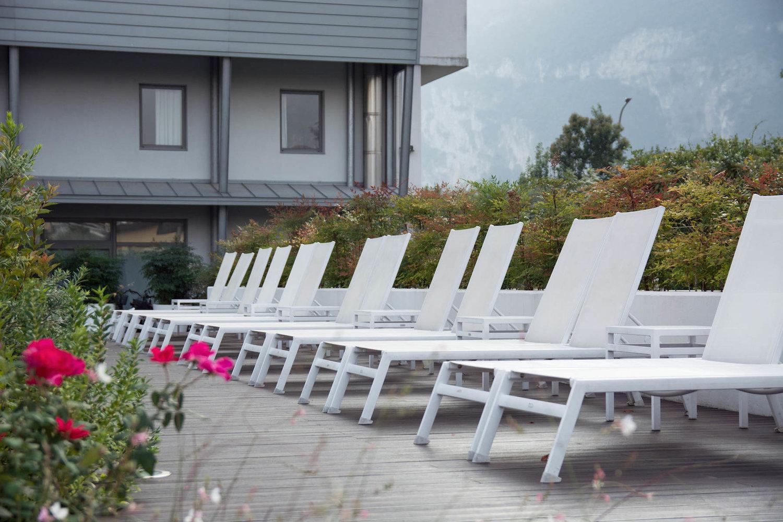 Ambienti Riva Del Garda garden & pool of the hotel luise in the centre of riva del