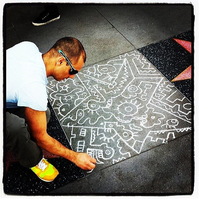 Chalk on Walk of Fame.jpg