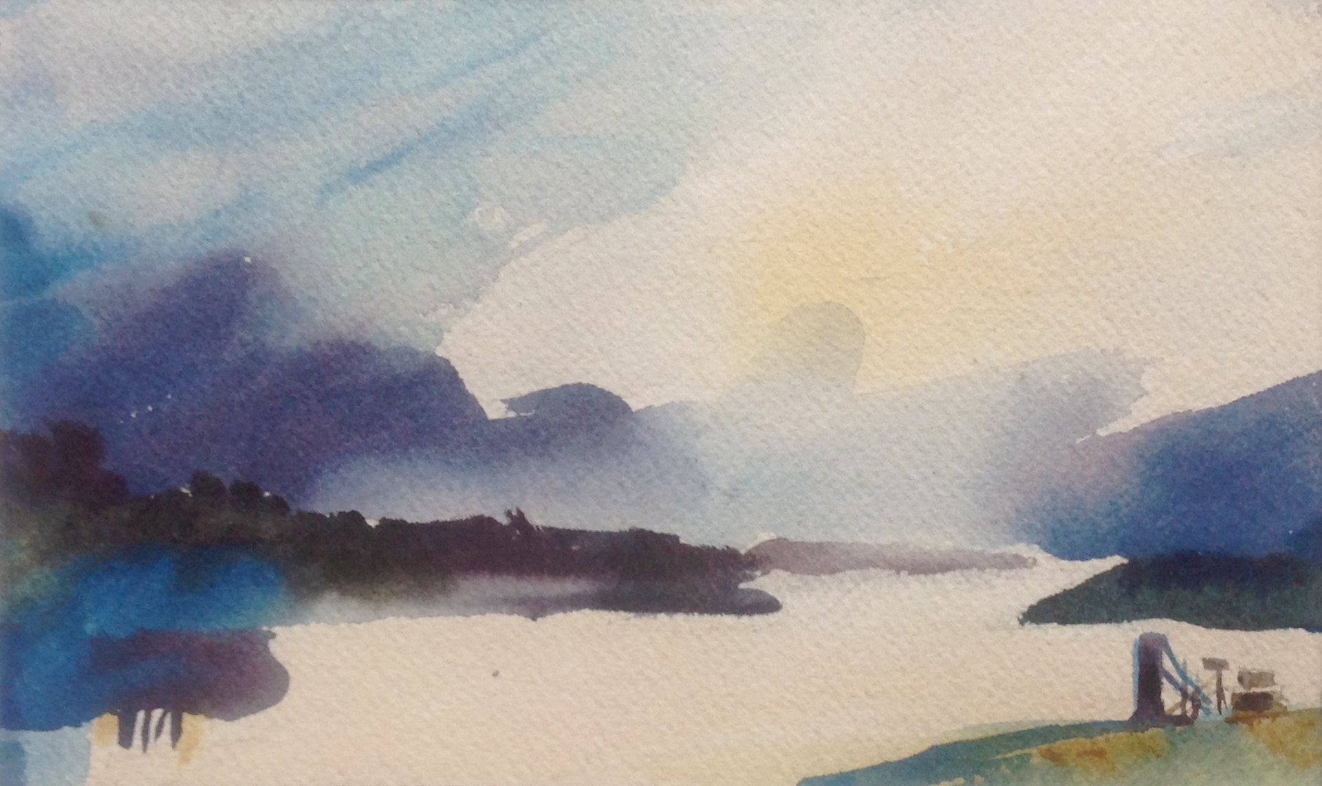 Inlet At Twilight - 5 x 8 - Collection of Will and Julie Reybold