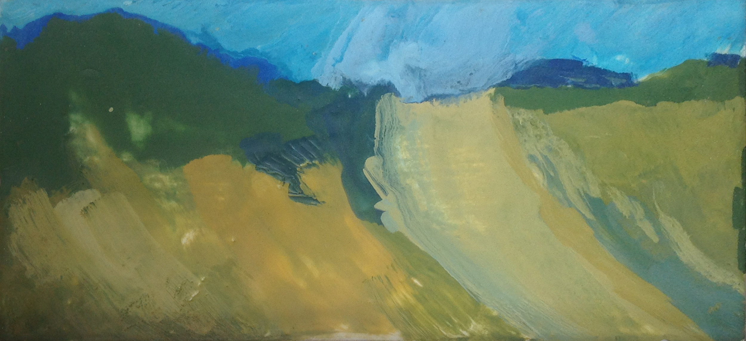 Dunes - Encaustic - 6 x 12 - Collection of Abraham Reybold