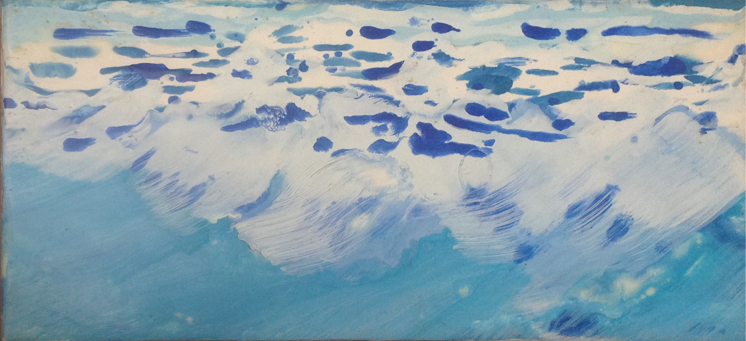 Ocean - Encaustic - 6 x 12 - Collection of Abraham Reybold