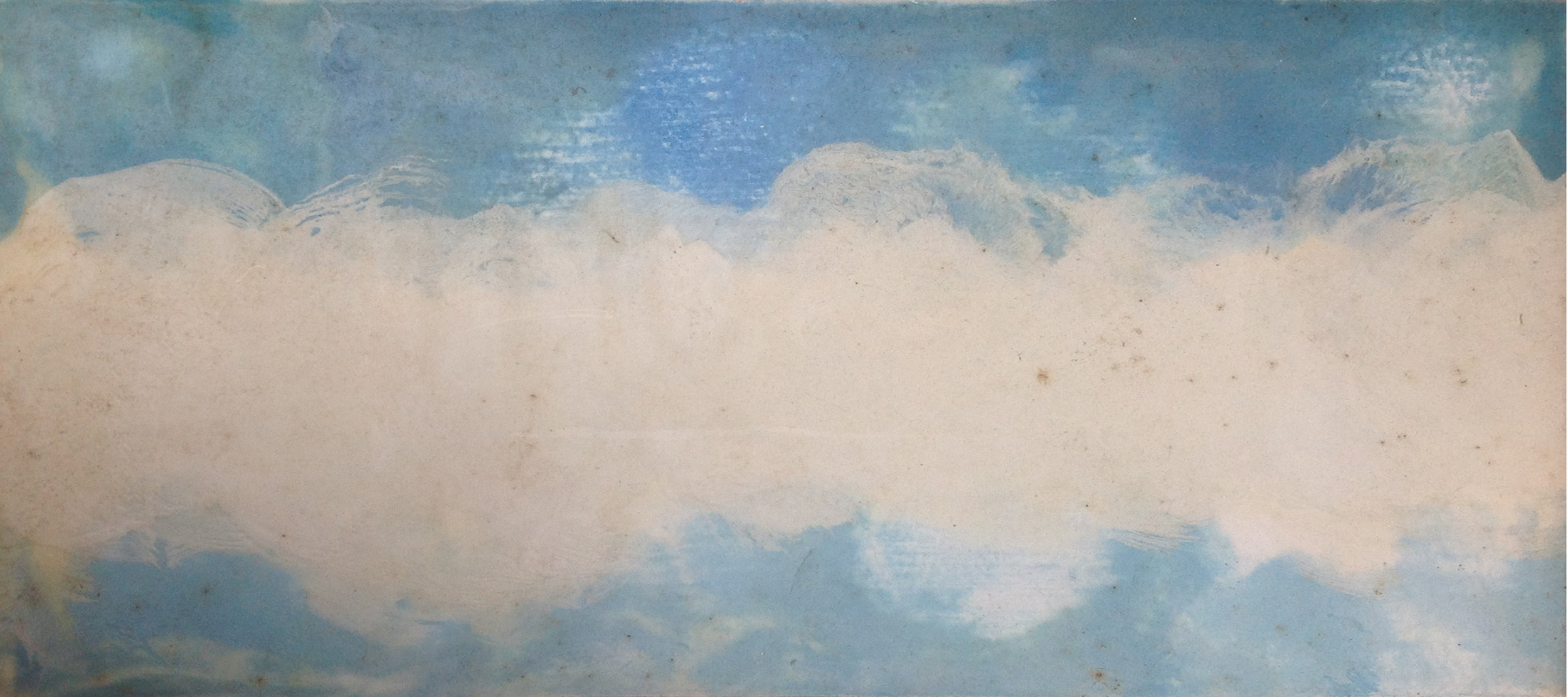 Sky - Encaustic - 6 x 12 - Collection of Abraham Reybold
