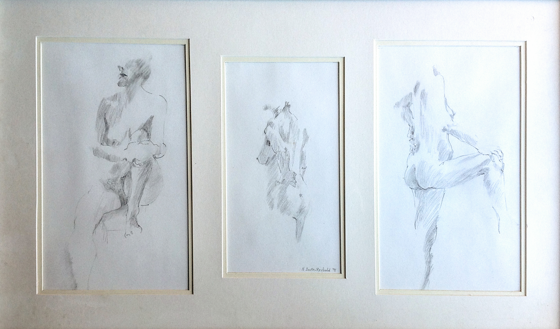 """Take Off 10 Lbs. - Pencil - 18"""" x 30"""" - Collection of John Gause"""