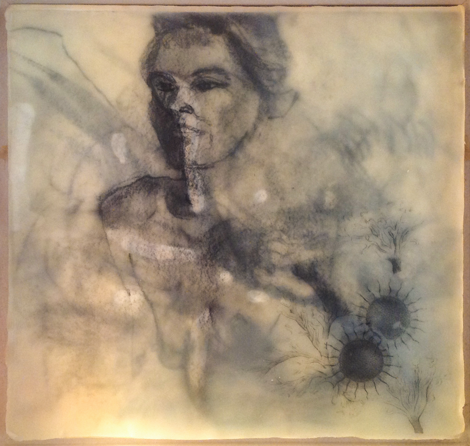 """Paste #2 - 2010 - Encaustic - 10"""" x 10"""" - Collection of Bill Reybold"""