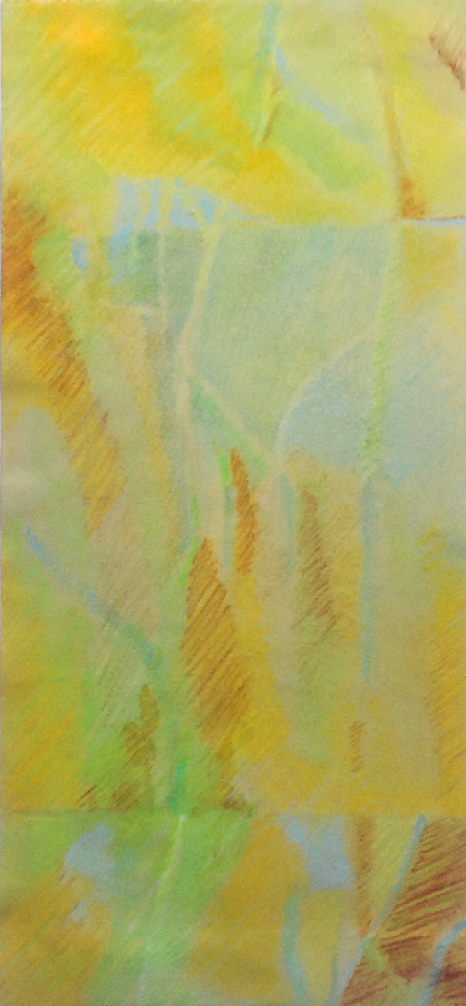 Glimmer & Spring II - Water Media/Conté - 10 x 22 - Collection of Bill Reybold
