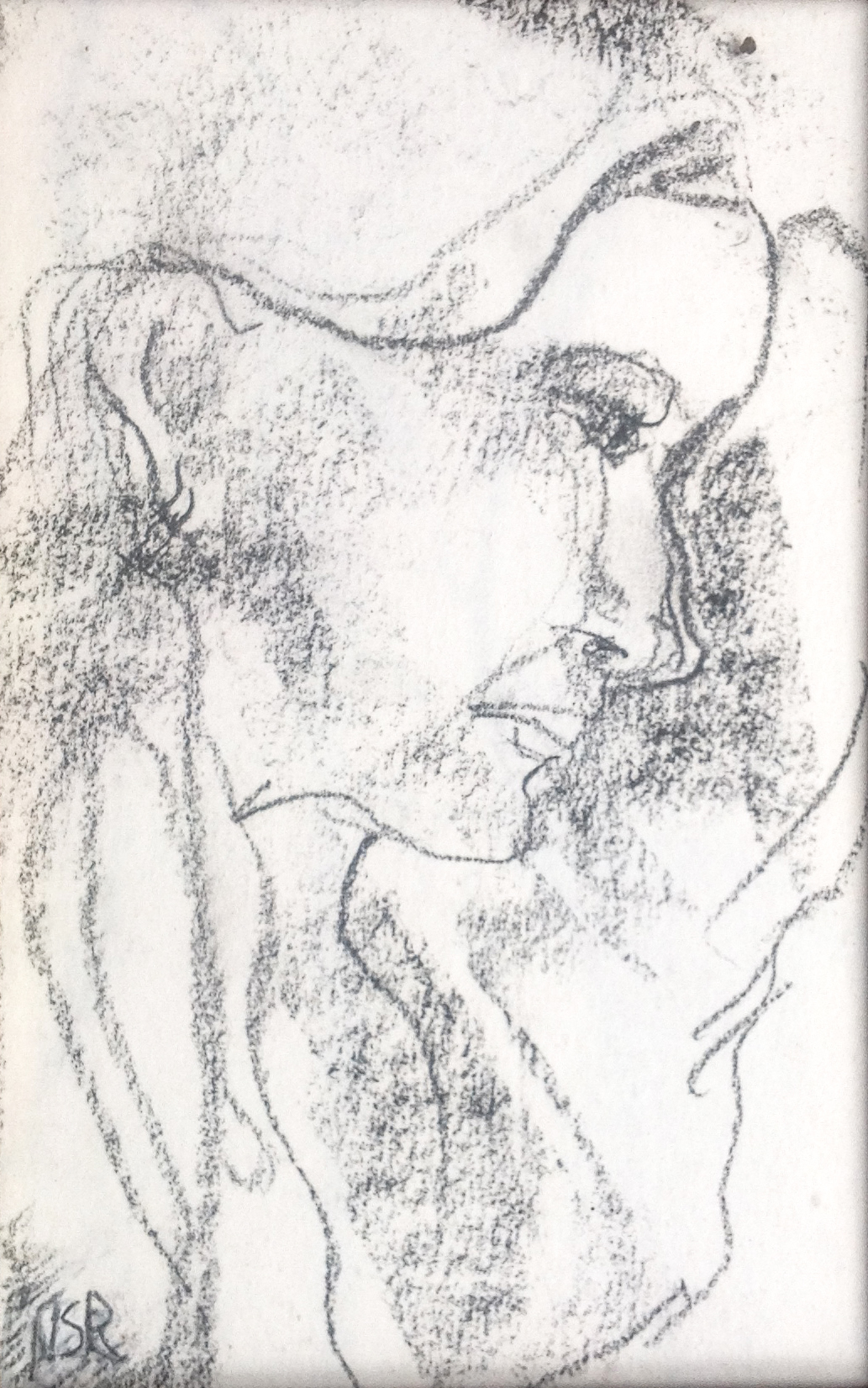 """Face Profile I - 3.5"""" x 5.5"""" - Collection of Bill Reybold"""
