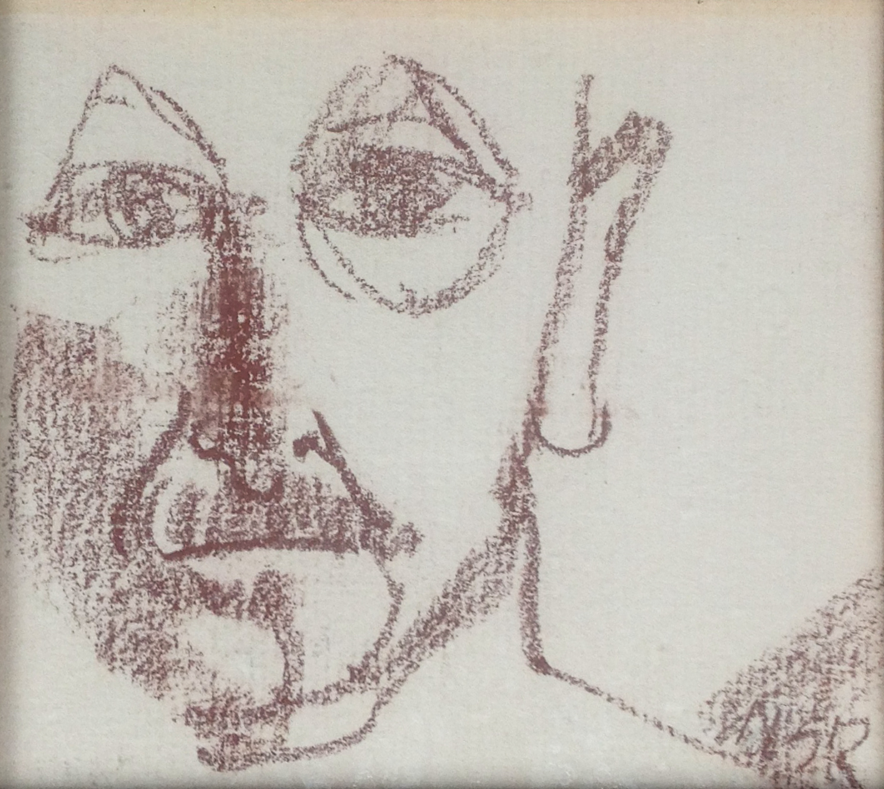 """Man Face - 4.25"""" x 3.75"""" - Collection of Bill Reybold"""