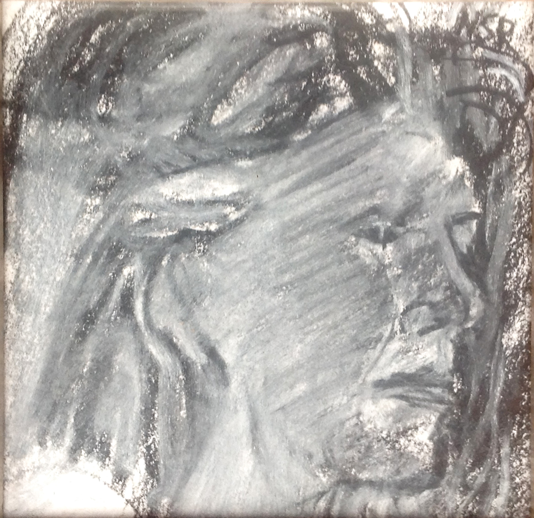 """Face Profile II - 3.5"""" x 3.5"""" - Collection of Bill Reybold"""