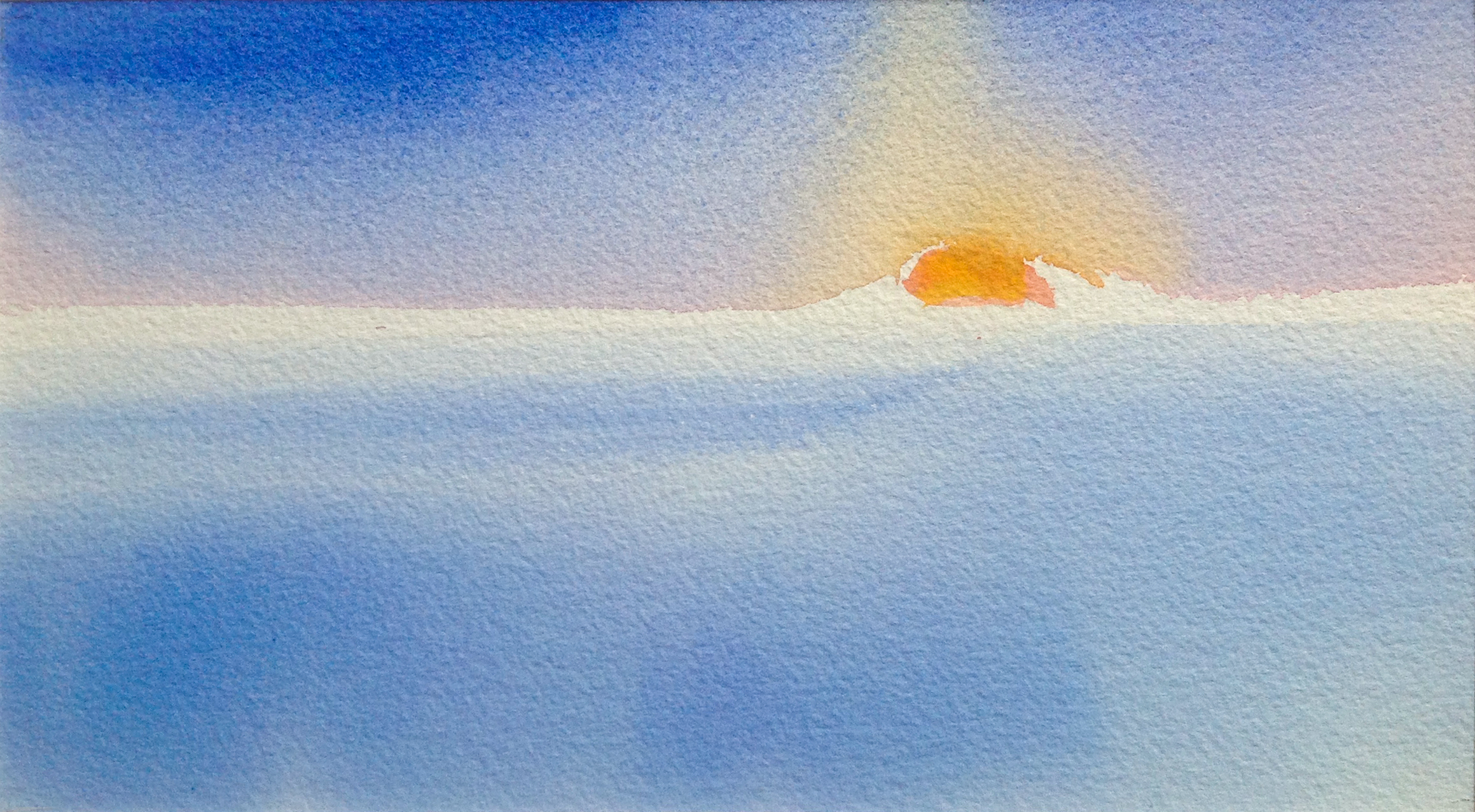 """Bay Sunrise - 6"""" x 12"""" - Collection of Bill Reybold"""