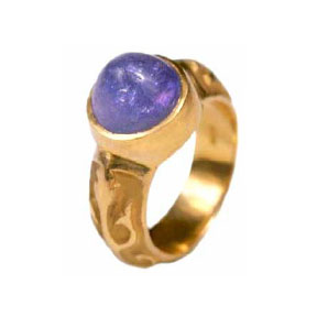 22K Gold & Tanzanite Ring