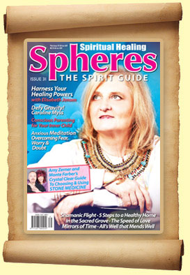Elisabeth featured on the front  cover of Spheres Magazine