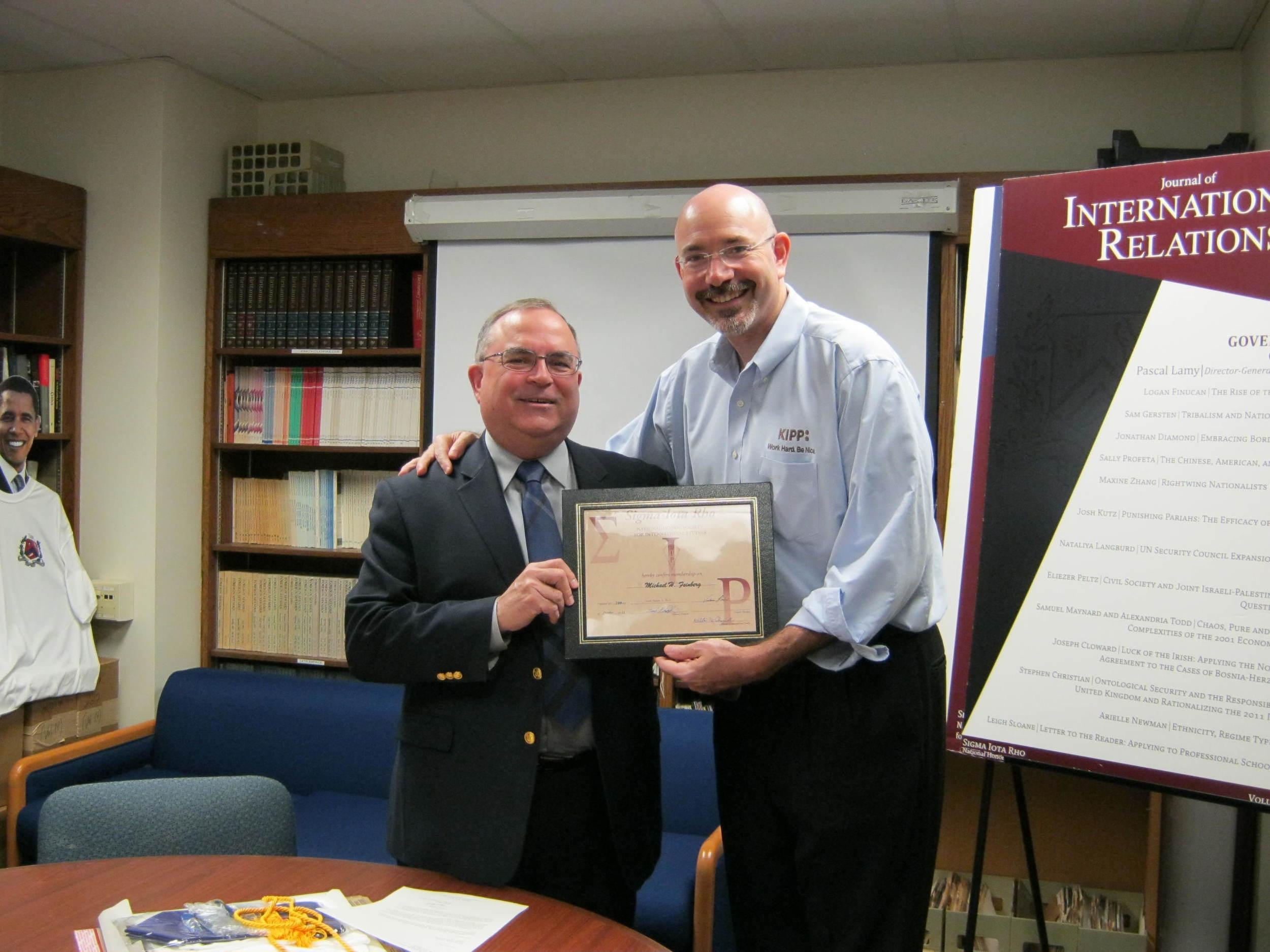 Michael Feinberg with Frank Plantan, Ph.D.