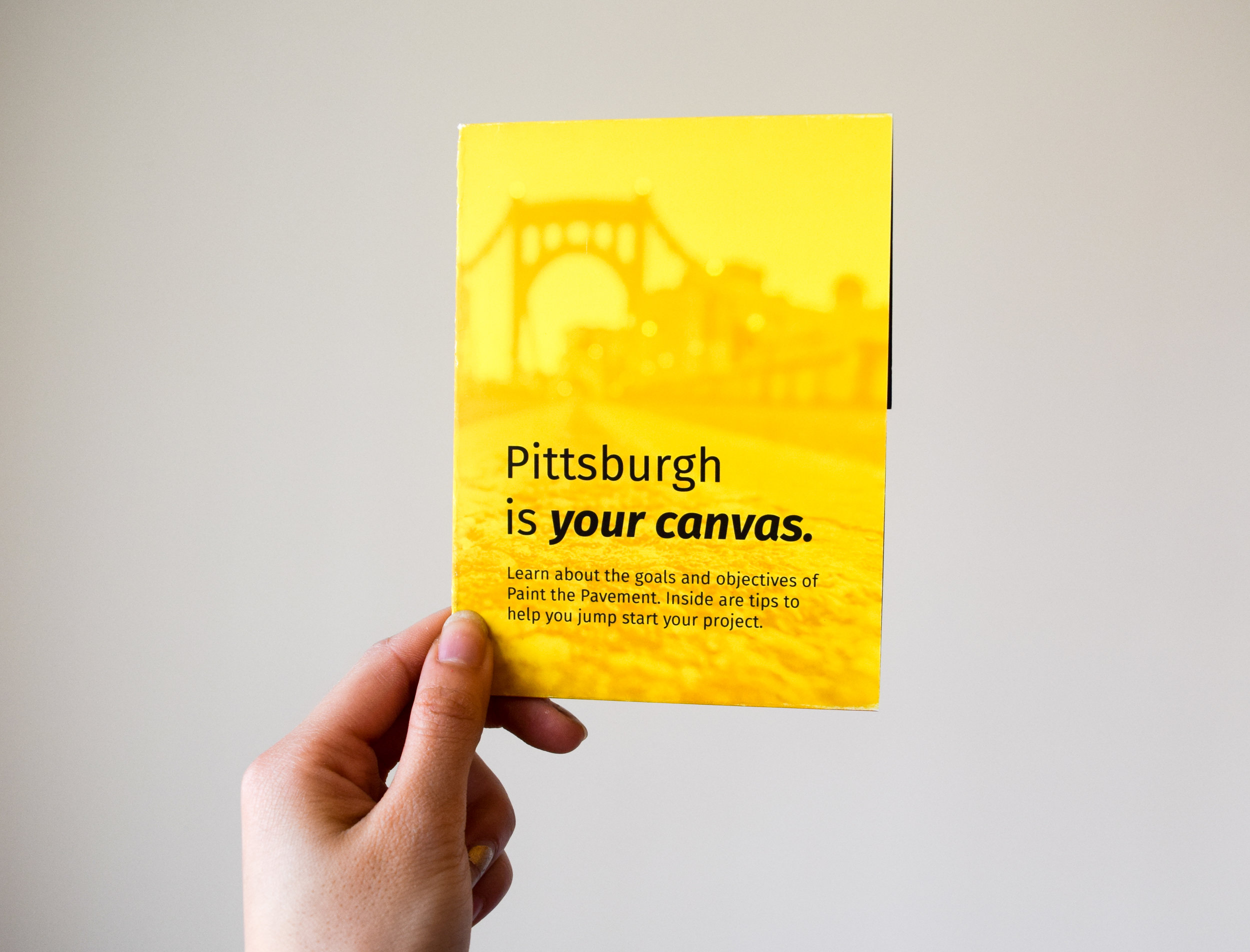 Helpful guidebook filled with information on why the reader should partake in Paint the Pavement.