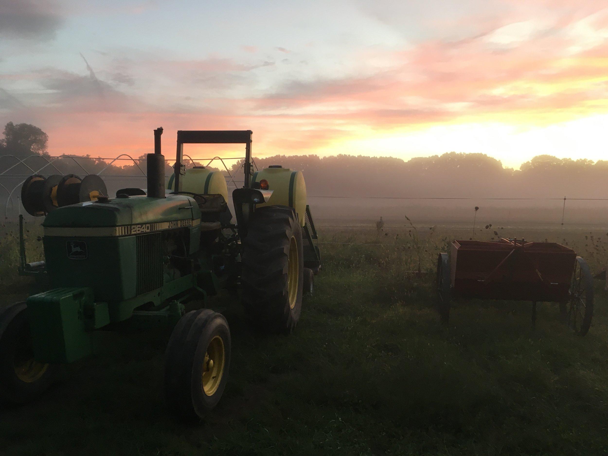 Fall on the farm is prime sunset photo season!