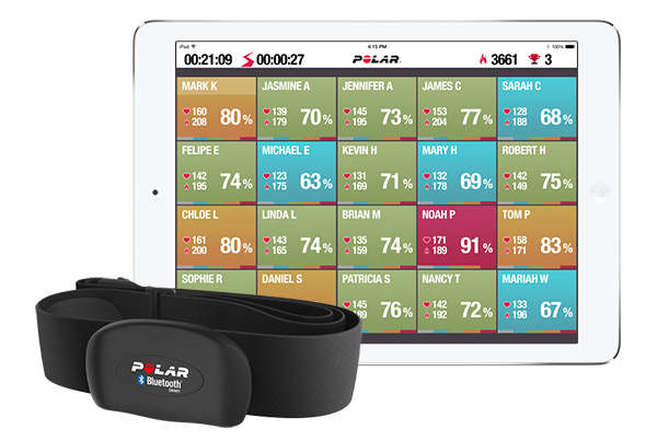 DBS uses the Polar Flow heart rate monitoring system.