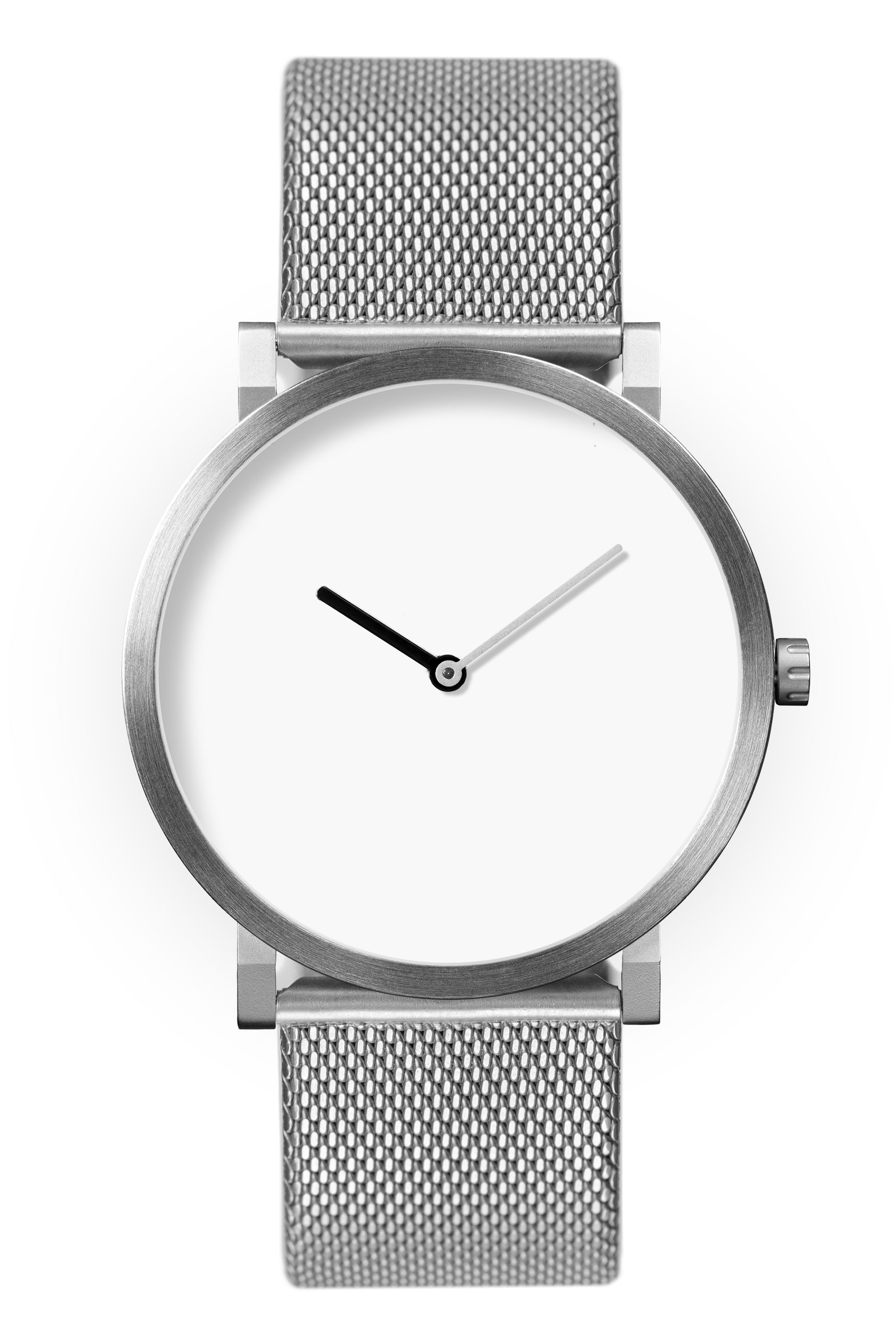 Glossy White with Stainless Steel Strap