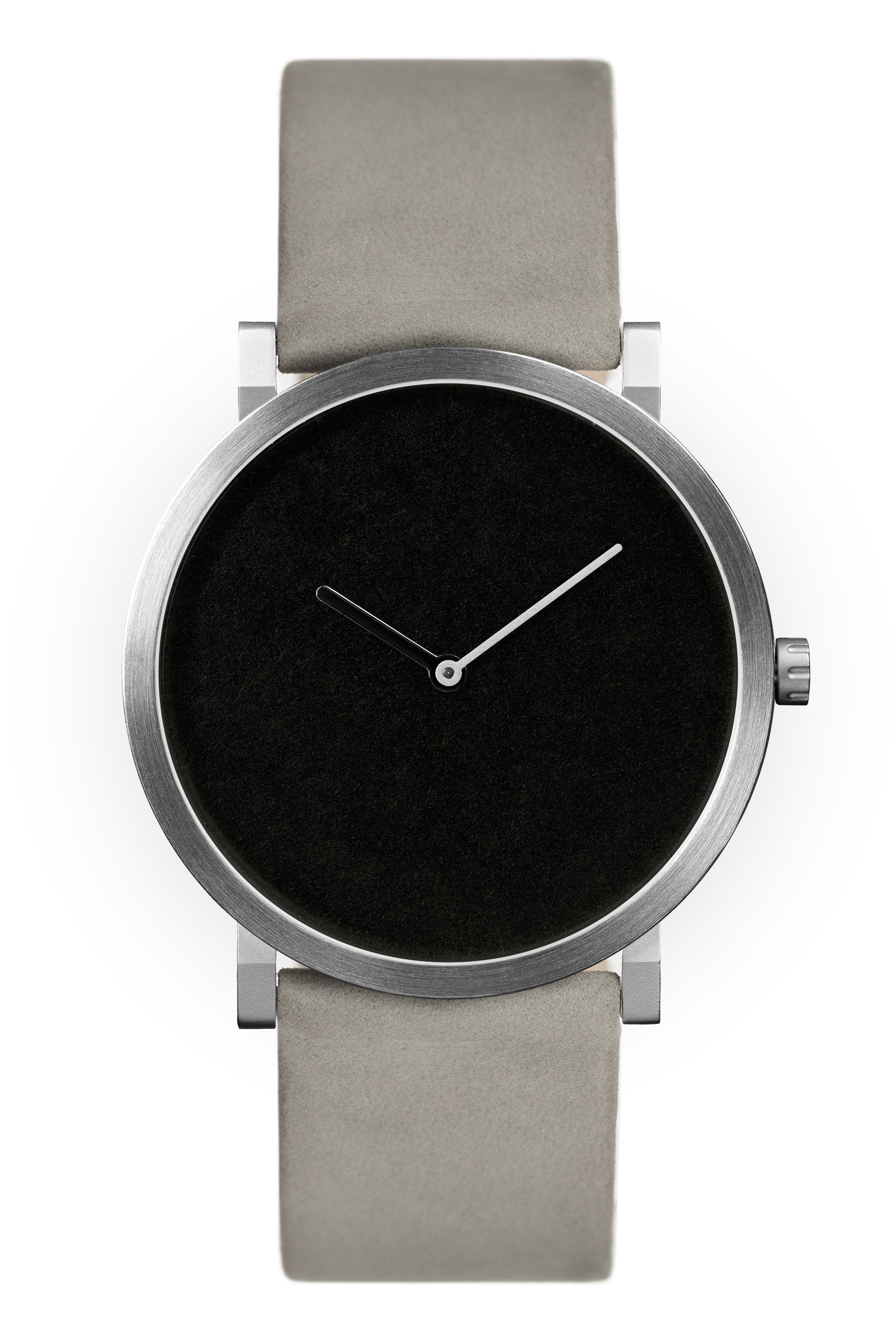 Matte Black with Beige Leather Strap