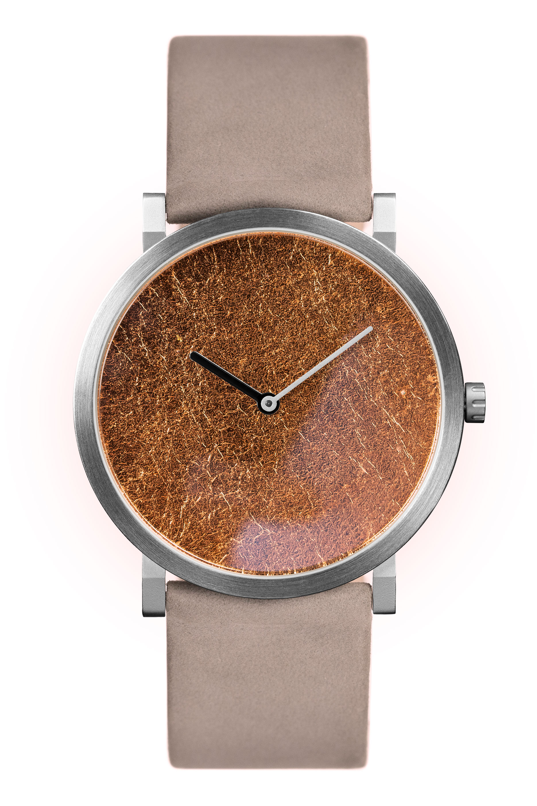 Copy of Copy of Copper Leaf with Grey Leather Strap