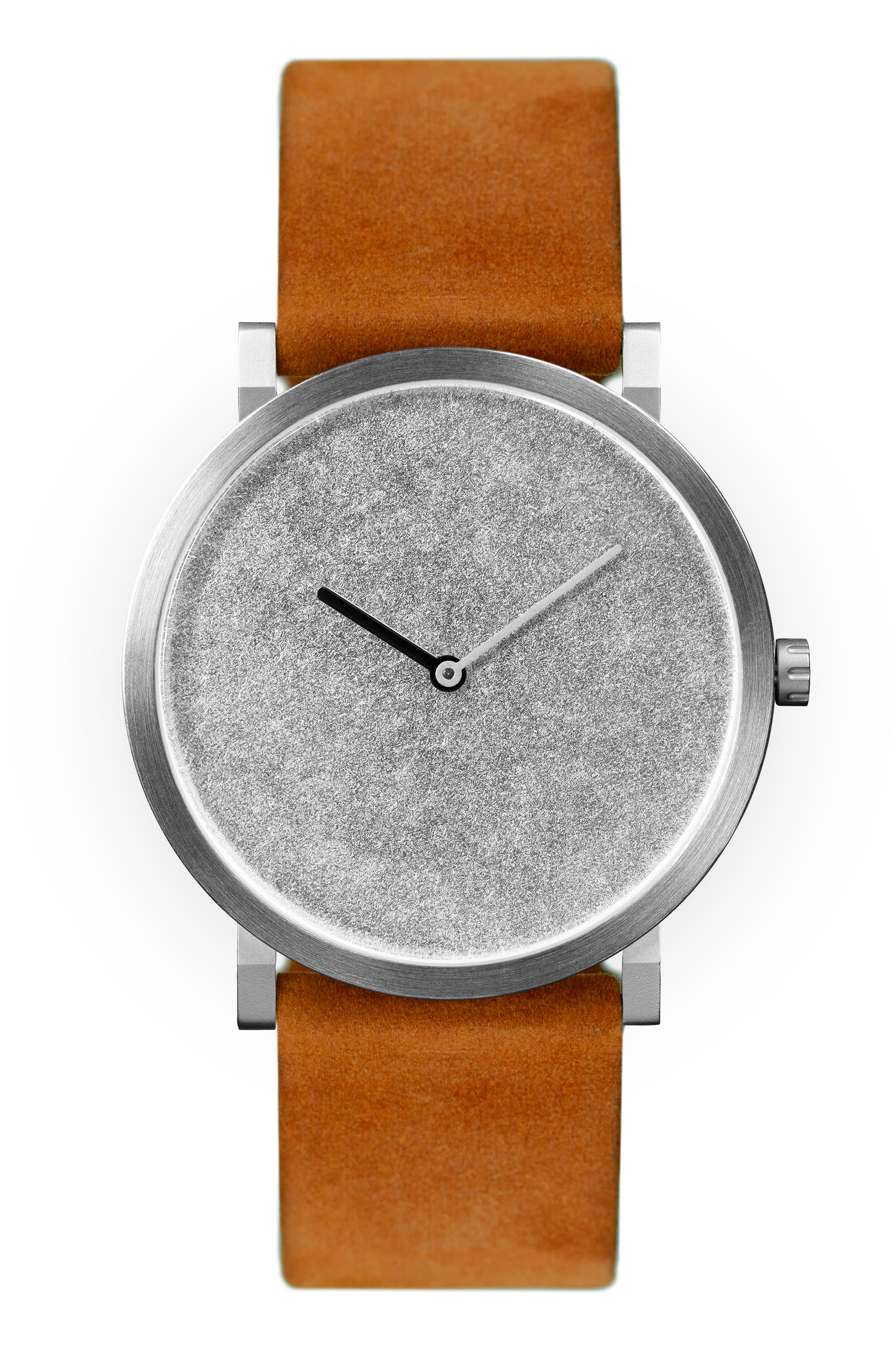 Palladium Leaf with Orange Leather Strap