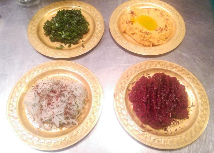 Mezze - Brassica + Celery, Butterbean + Garlic, Turnip + Kombucha, Beets + Chocolate