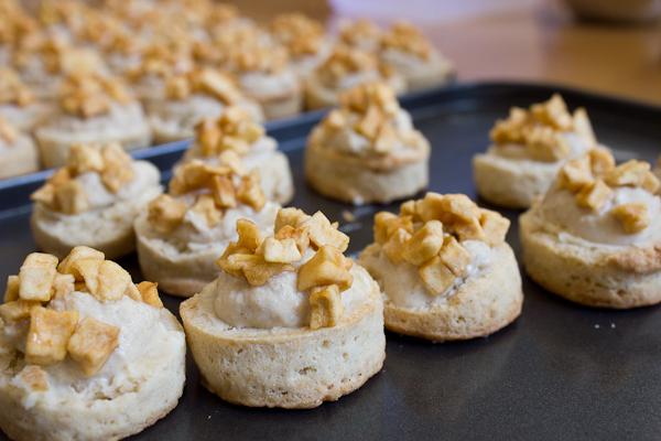 Hay scone, apple 'raisins', hay cream
