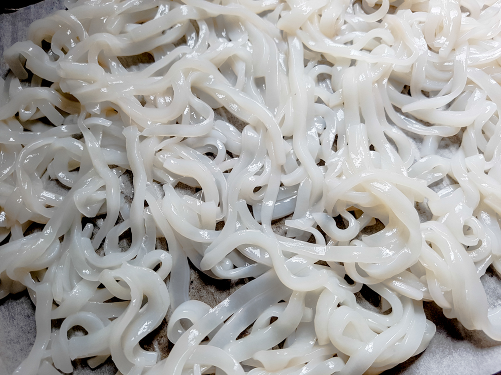 Squid 'noodles'