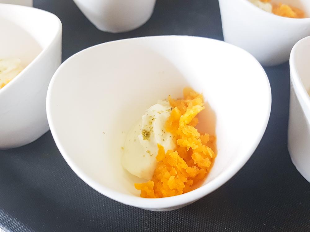 Sea buckthorn granita, hogweed seed yoghurt ( image - Alexandra Genis )
