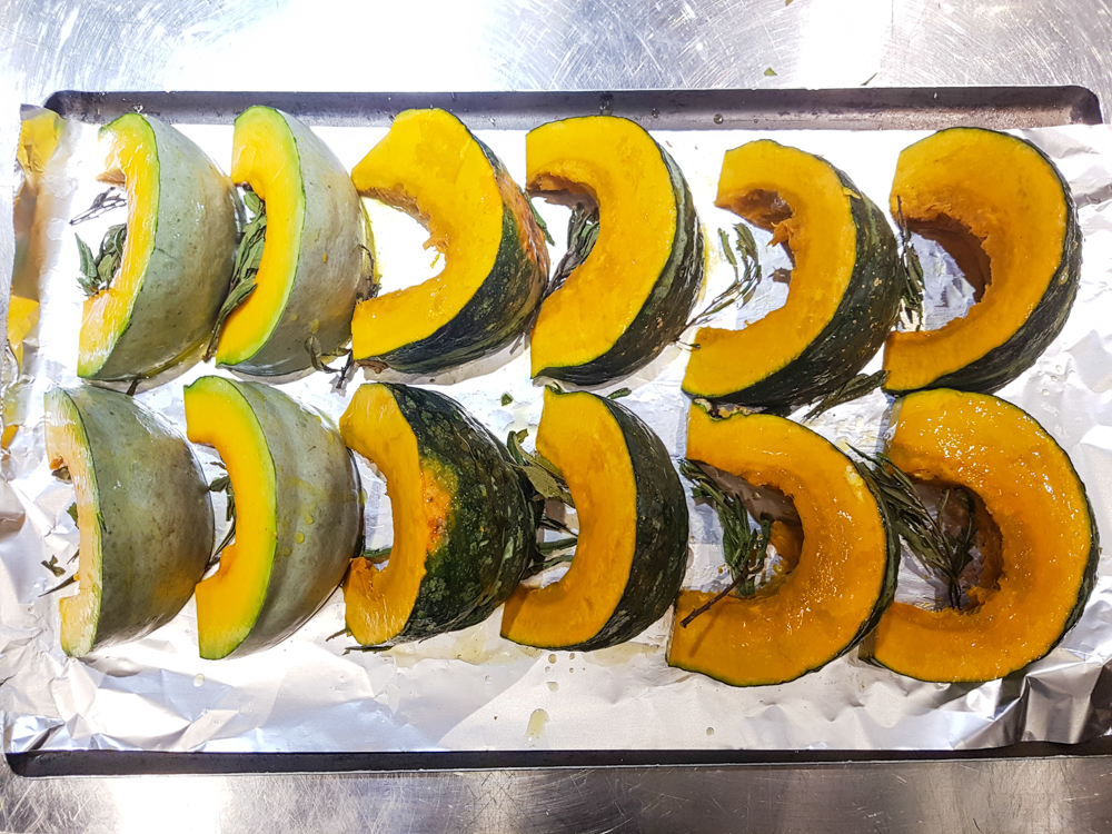 Kabocha pumpkins with bog myrtle and Bowmore butter